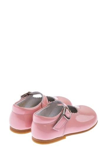 Girls Patent Scalloped Edge Mary Jane Shoes