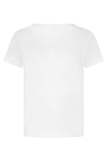Boys White Cotton Top
