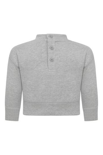 Baby Boys Grey Cotton Teddy Sweater