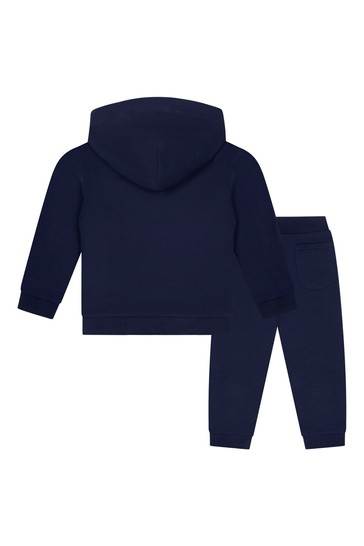 Baby Navy Cotton Teddy Tracksuit
