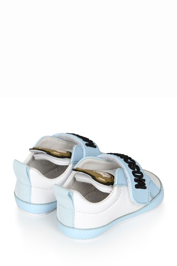 Blue Leather Trainers
