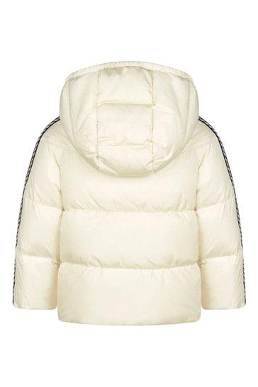 Baby Girls White Trim Padded Jacket