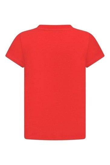 Kids Red Cotton Jersey T-Shirt