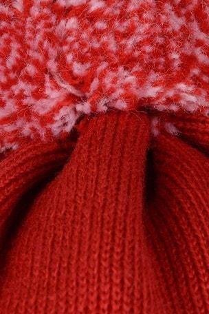 Canada Goose Red Merino Pom Toque Hat