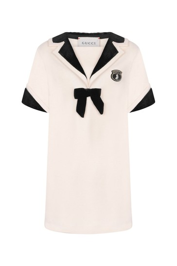 Girls Ivory Jersey Dress