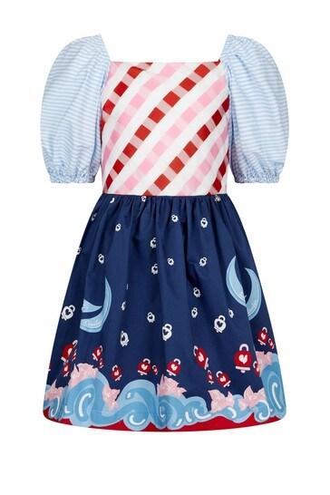 걸즈 멀티 코튼 드레스