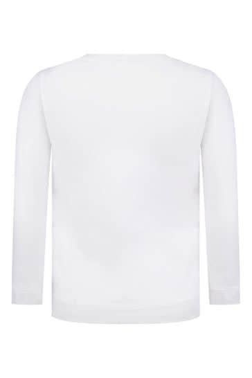Girls Ivory Paris Cotton Long Sleeve T-Shirt