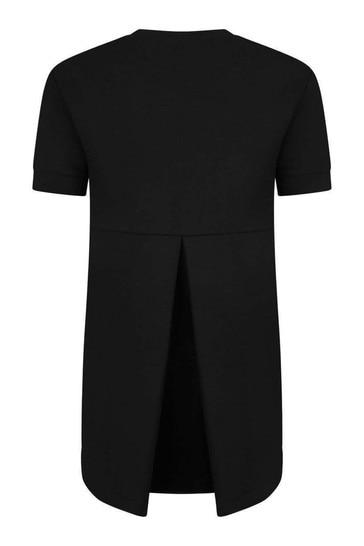 Girls Black Viscose Dress