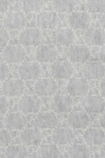 Grey GG Wool Baby Blanket