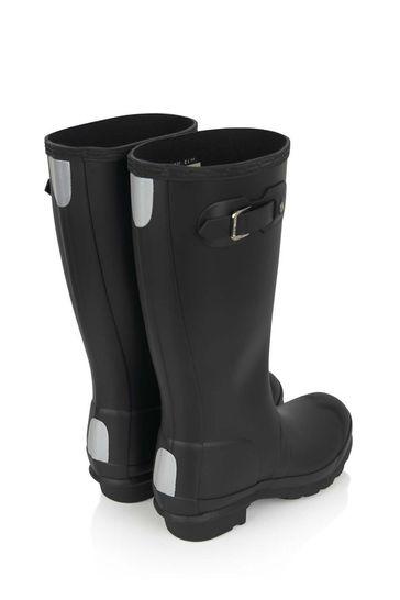 Kids Black Wellington Boots