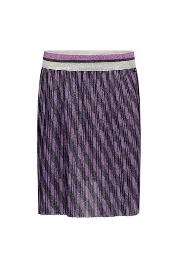 Girls Purple Striped Skirt