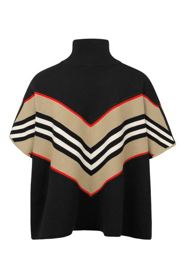 Girls Wool & Cashmere Poncho