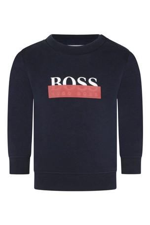 Baby Boys Navy Logo Sweater