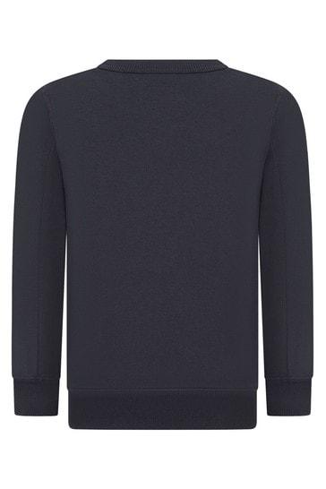 Boys Navy Cotton Sweater