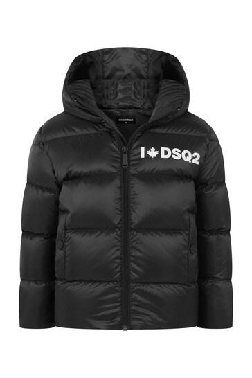 Kids Black Padded Jacket