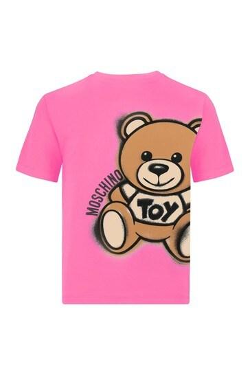 Girls Pink Cotton T-Shirt