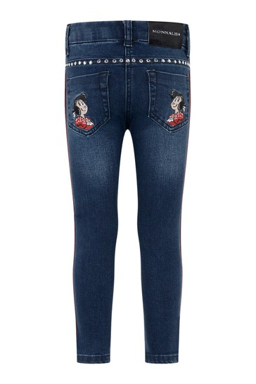 Girls Blue Denim Stretch Olive Oyl Jeans