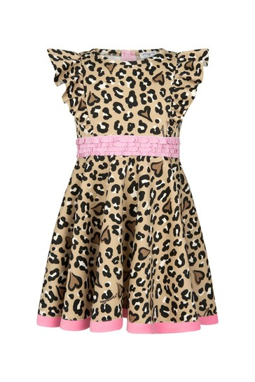 Girls Leopard Print Neoprene Dress