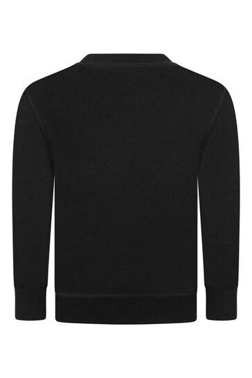 보이즈 코튼 로고 스웨터