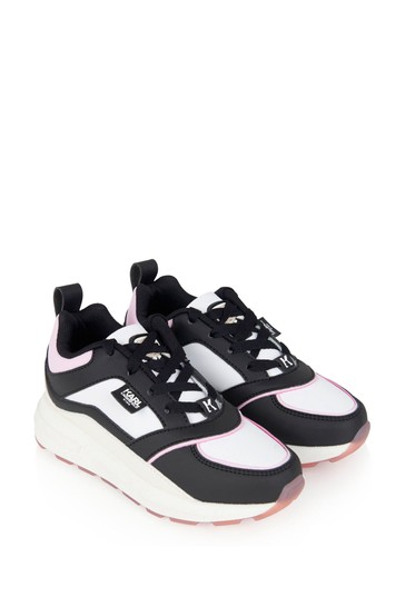Girls Multi-Coloured Leather & Suede Trainers