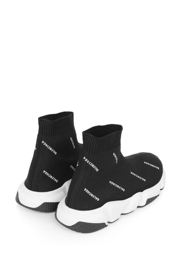 Black Logo Print Speed Trainers