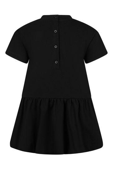 Baby Girls Black Cotton Dress