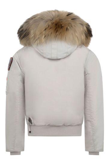 Girls Light Grey Gobi Down Padded Jacket