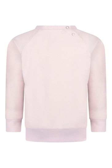 Baby Girls Pink Organic Cotton Animals Sweater