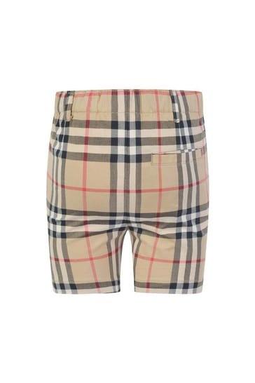 Baby Boys Beige Vintage Check Sean Shorts
