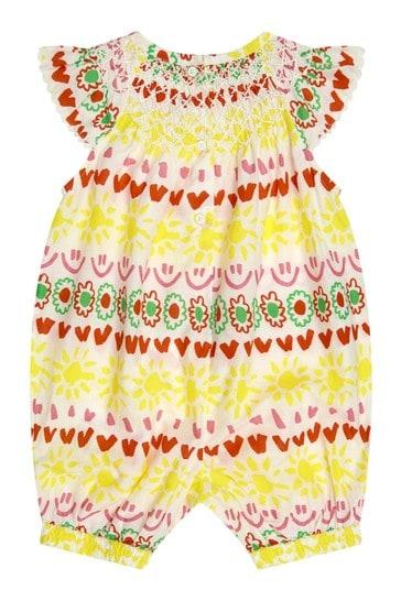 Baby Girls Multicoloured Cotton Jumpsuit