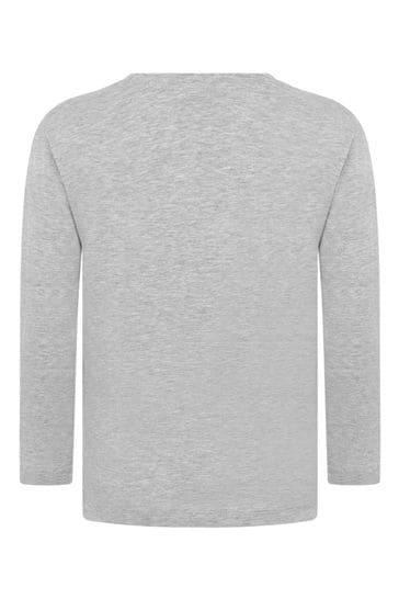 보이즈 그레이 코튼 롱 슬리브 티셔츠