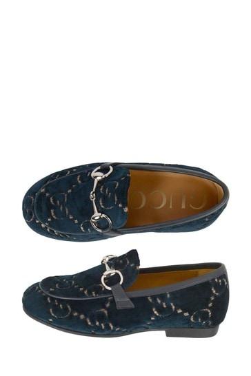 Navy Velvet GG Jordaan Loafer