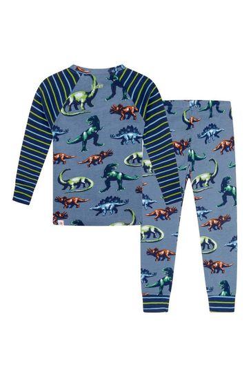 Boys Blue Organic Cotton Pyjamas 2 Piece