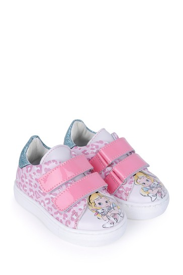 Girls Pink Alice In Wonderland Trainers