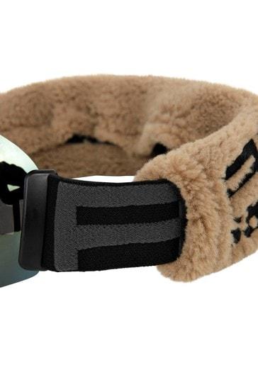Beige Ski Goggles