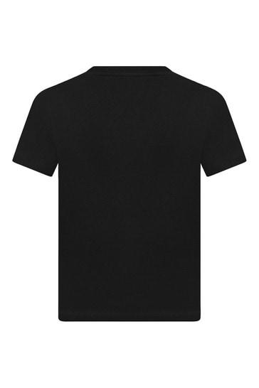 키즈 코튼 로고 테이프 티셔츠