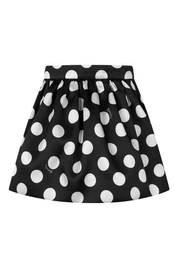 Girls Black Polka Dot Skirt