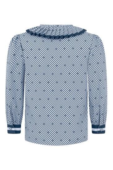 Girls Pale Blue Popeline Shirt