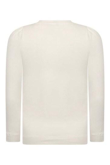 Girls Ivory Cotton Long Sleeve Collar Print T Shirt Childsplay Clothing Kuwait