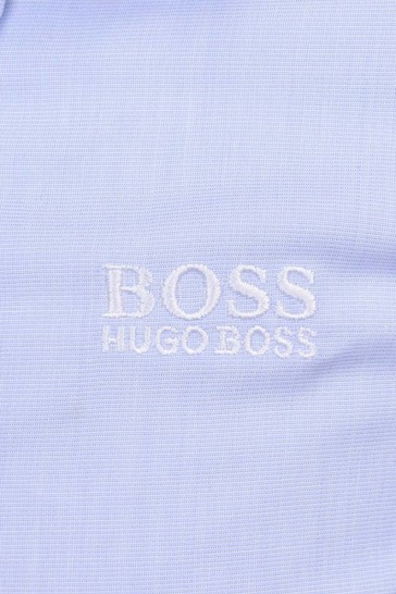 Baby Boys Pale Blue Long Sleeve Cotton Shirt