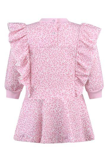 Baby Girls Pink Leopard Print Cotton Alice Dress