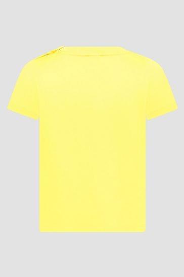 Baby Boys Yellow Cotton Jersey T-Shirt