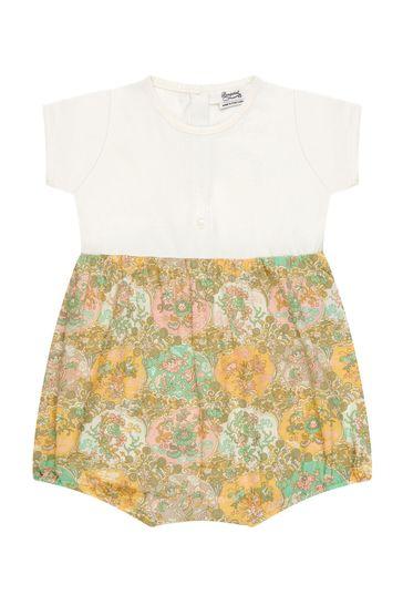 Baby Girls Cream Cotton Romper