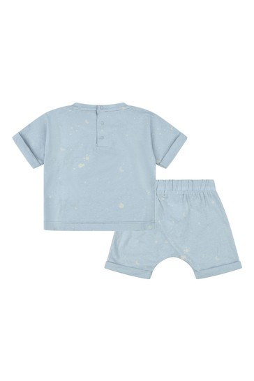 Baby Boys Blue Cotton Outfit