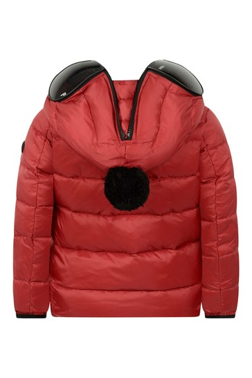 Boys Red Down Padded Jacket With Lenses