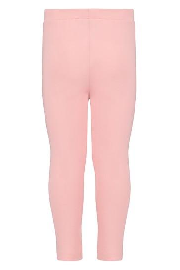 Baby Girls Pink Cotton Leggings