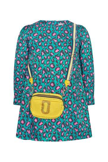 Girls Cheetah Print Sateen Dress