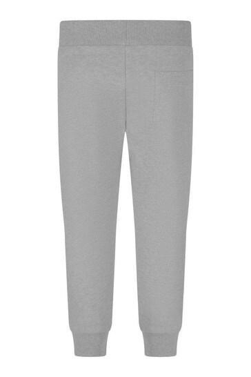Grey Cotton Logo Joggers