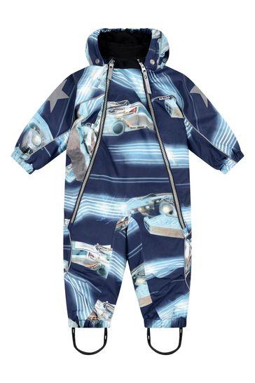 Baby Boys Blue Past Now Future Snowsuit