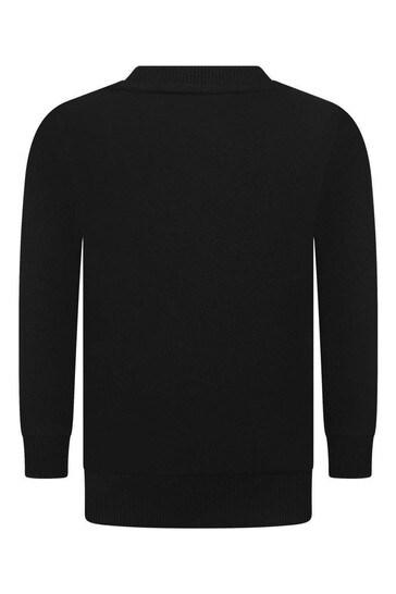 Kids Black Cotton Sweater